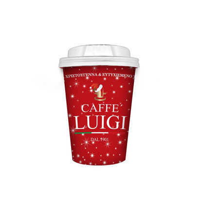 Picture of PAPER CUP X-MAS 14oz - 50pcs CAFFE' LUIGI